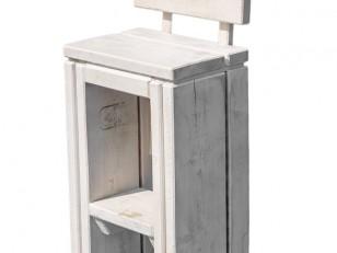 Sitzhocker Wangerooge antik-grau